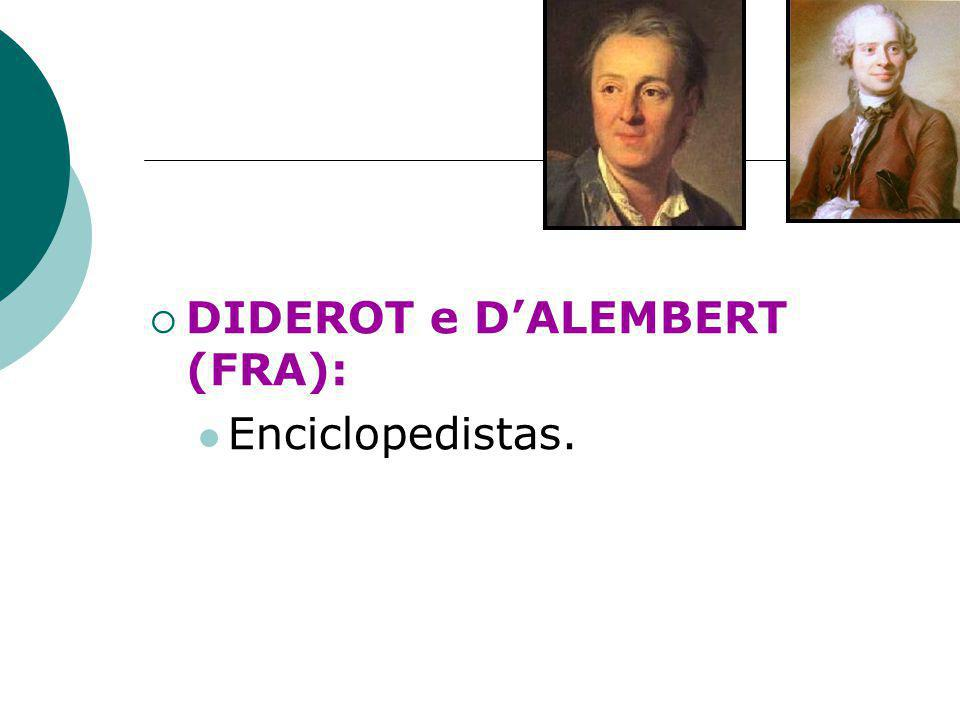 DIDEROT e D'ALEMBERT (FRA): Enciclopedistas.