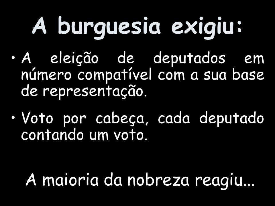 A burguesia não se conforma.