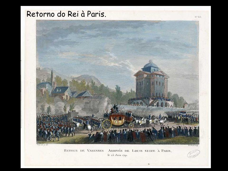 Numa conspiração contra- revolucionária, Luís XVI e sua família, por sua vez, tentaram fugir para o vizinho império Austríaco, em junho de 1791, mas foram presos na fronteira, na cidade de Varennes, e reconduzidos a Paris.
