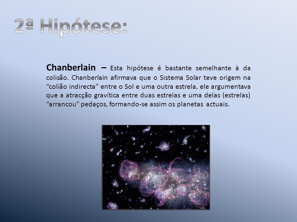 Chanberlain – Esta hipótese é bastante semelhante à da colisão.