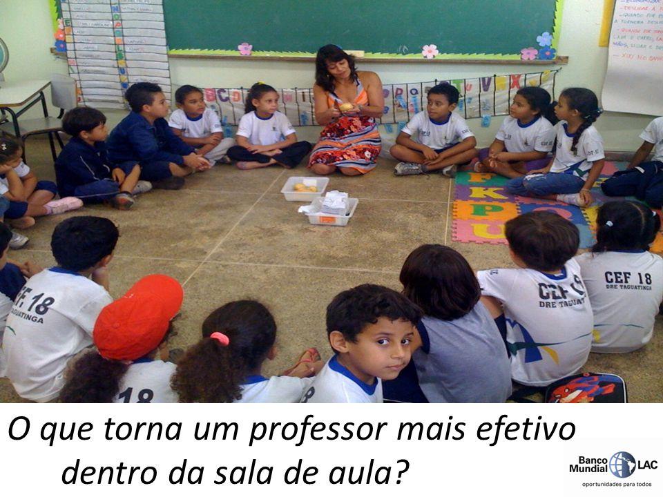 O que torna um professor mais efetivo dentro da sala de aula?
