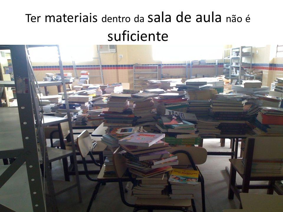 Ter materiais dentro da sala de aula não é suficiente
