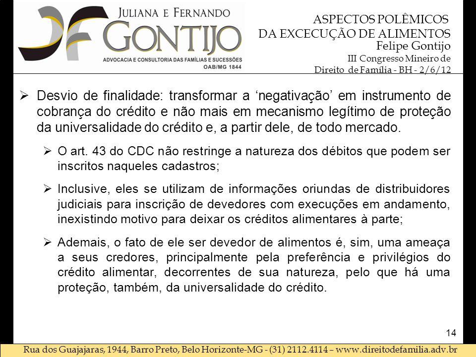 Rua dos Guajajaras, 1944, Barro Preto, Belo Horizonte-MG - (31) 2112.4114 – www.direitodefamilia.adv.br Felipe Gontijo III Congresso Mineiro de Direit