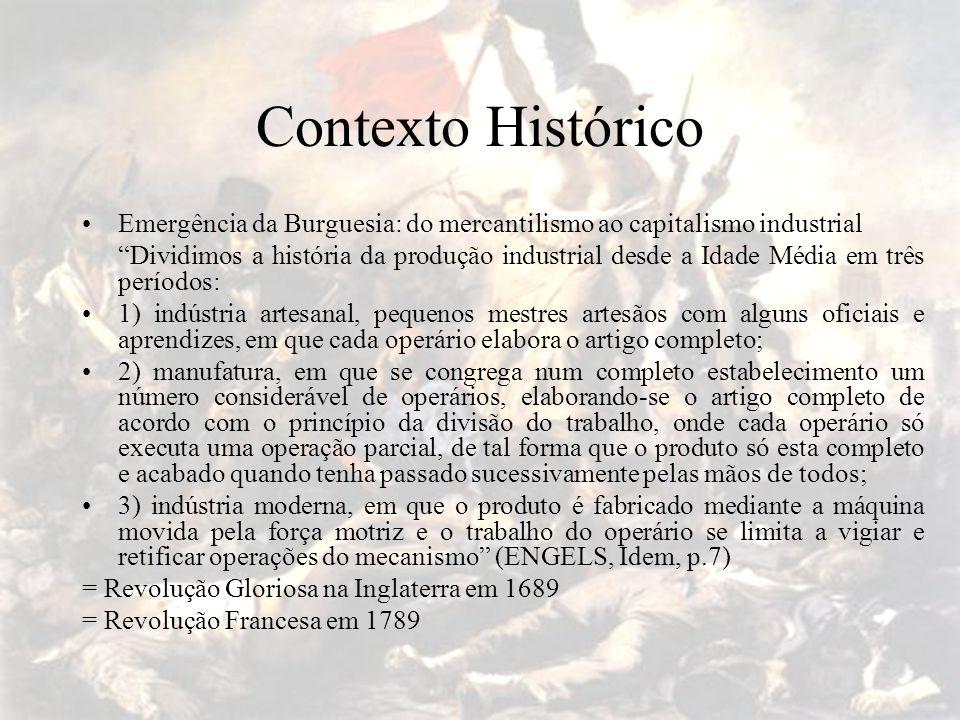 """Contexto Histórico Emergência da Burguesia: do mercantilismo ao capitalismo industrial """"Dividimos a história da produção industrial desde a Idade Médi"""