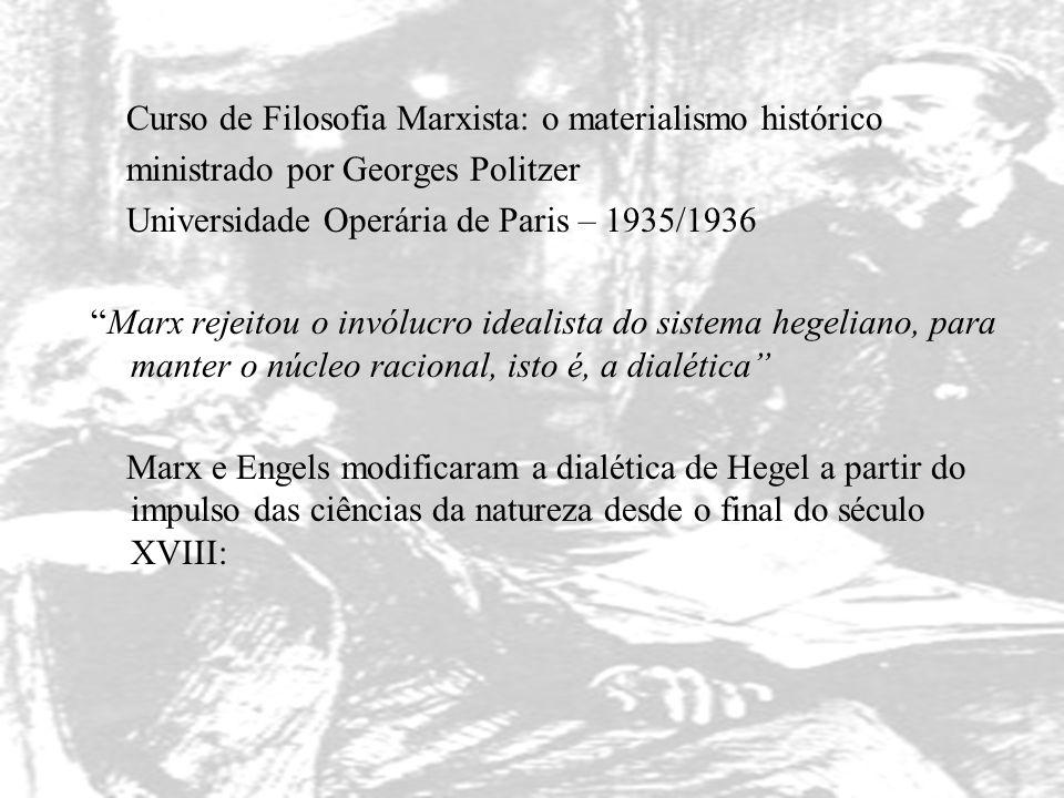 """Curso de Filosofia Marxista: o materialismo histórico ministrado por Georges Politzer Universidade Operária de Paris – 1935/1936 """"Marx rejeitou o invó"""