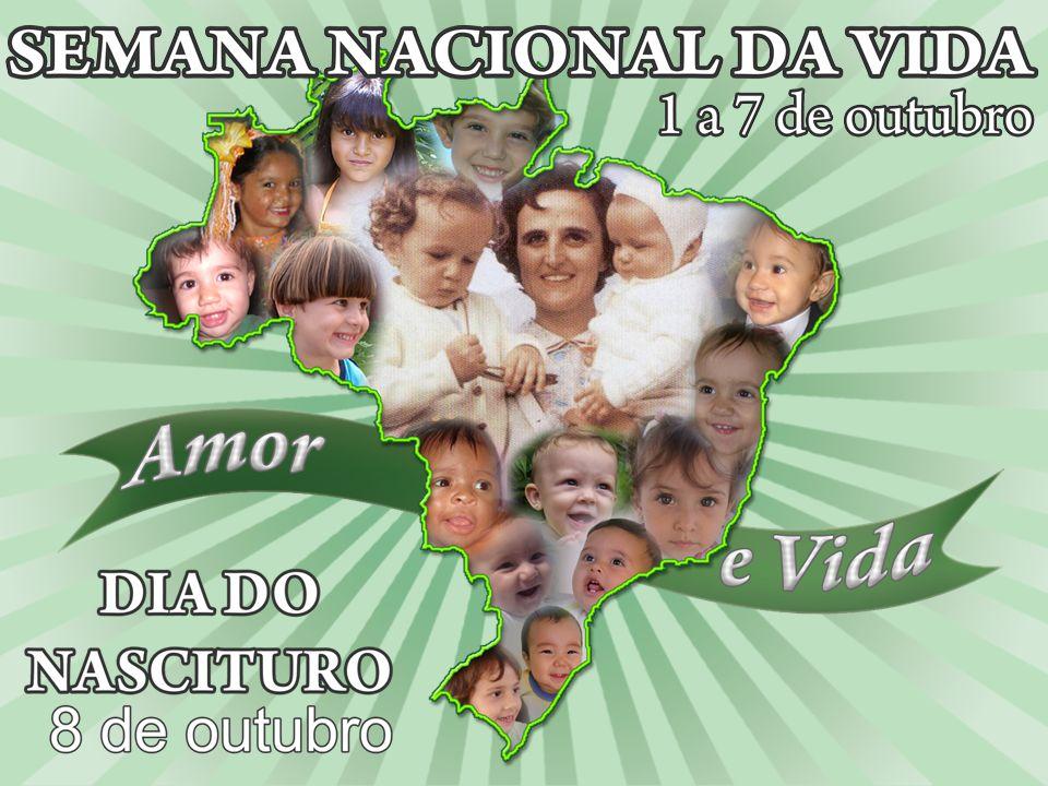 Semana Nacional da Vida Um novo caminho para a vida A pior calamidade para a humanidade não é a guerra ou o terremoto.