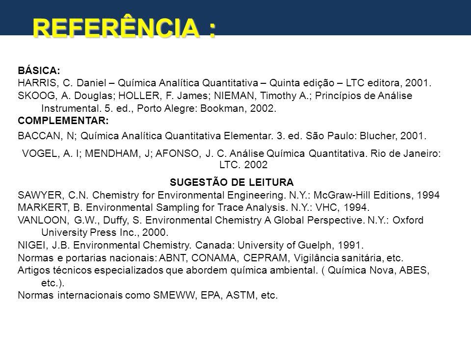 A Química Analítica e a Química Química Analítica Química Orgânica Química Inorgânica Físico-Química QUÍMICA Química Analítica Aplicada (QAA)