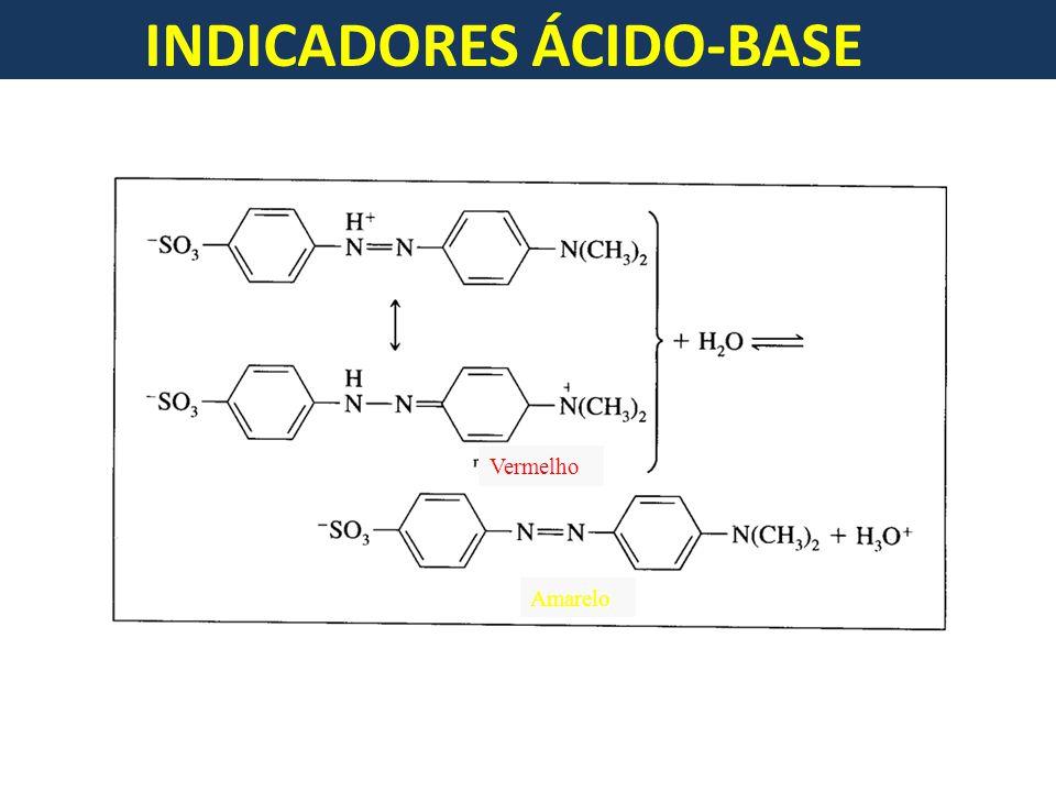 INDICADORES ÁCIDO-BASE Vermelho Amarelo