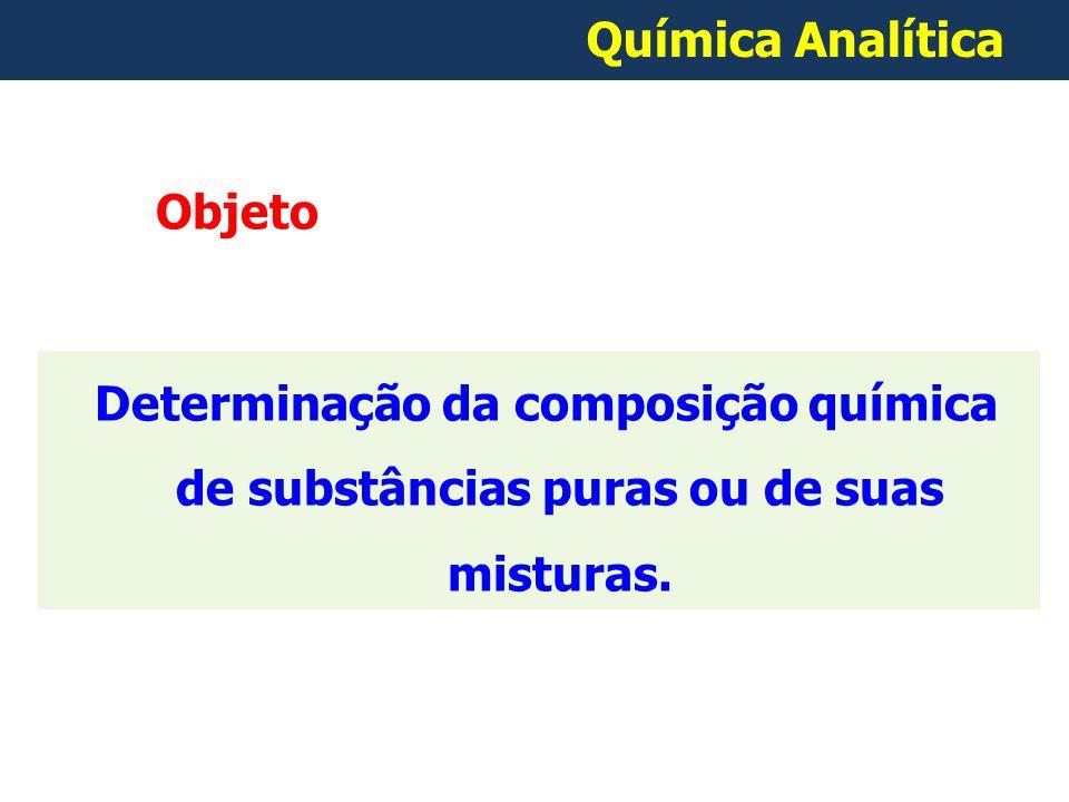 Determinação da composição química de substâncias puras ou de suas misturas.