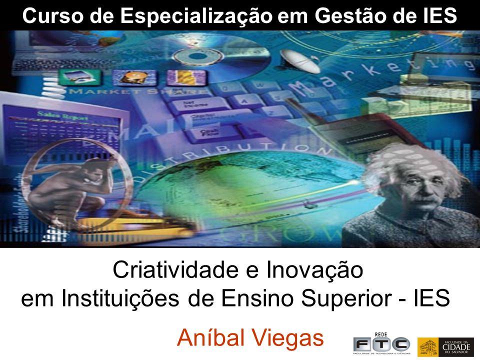 Curso de Especialização em Gestão de IES Criatividade e Inovação em Instituições de Ensino Superior - IES Aníbal Viegas