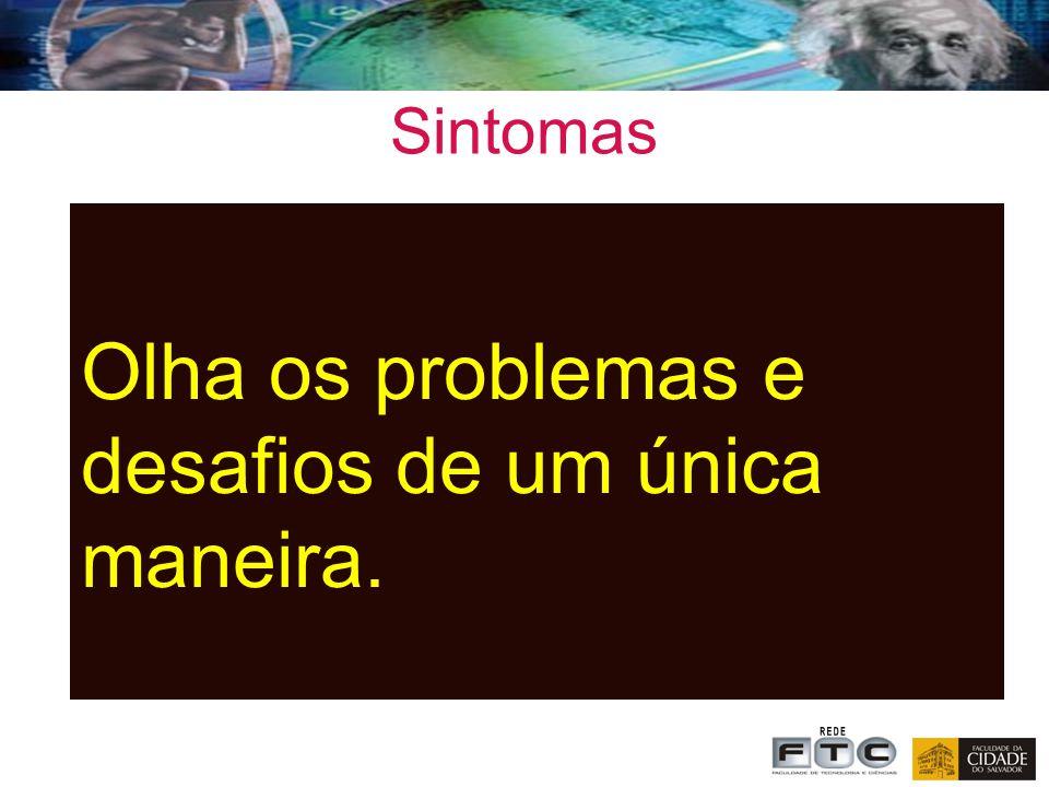 Sintomas Olha os problemas e desafios de um única maneira.