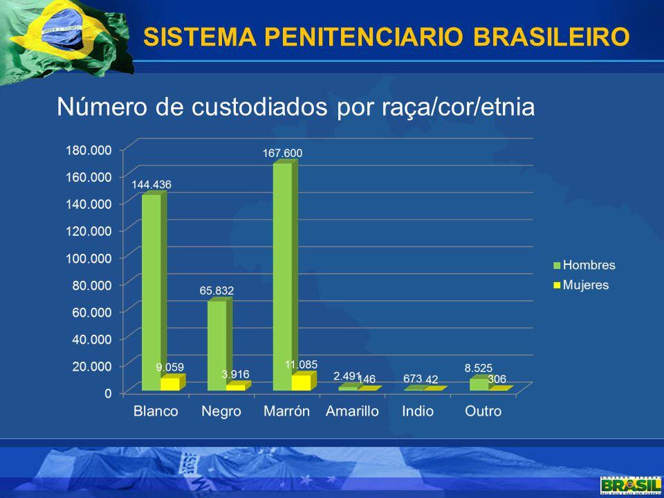 Número de custodiados segundo a sua origem Estrangeiros: 3.120 SISTEMA PENITENCIARIO BRASILEIRO