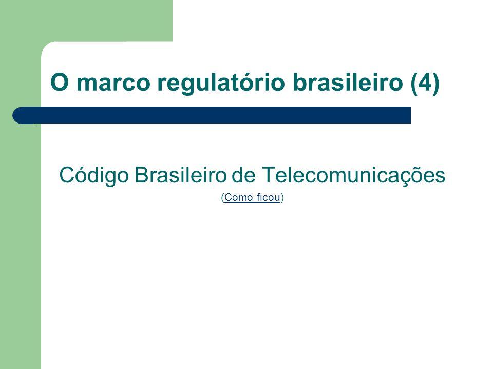 """O marco regulatório brasileiro (3) A segunda grande mudança: a Lei Geral de Telecomunicações de 1997. A casuística separação entre """"telecomunicações"""""""