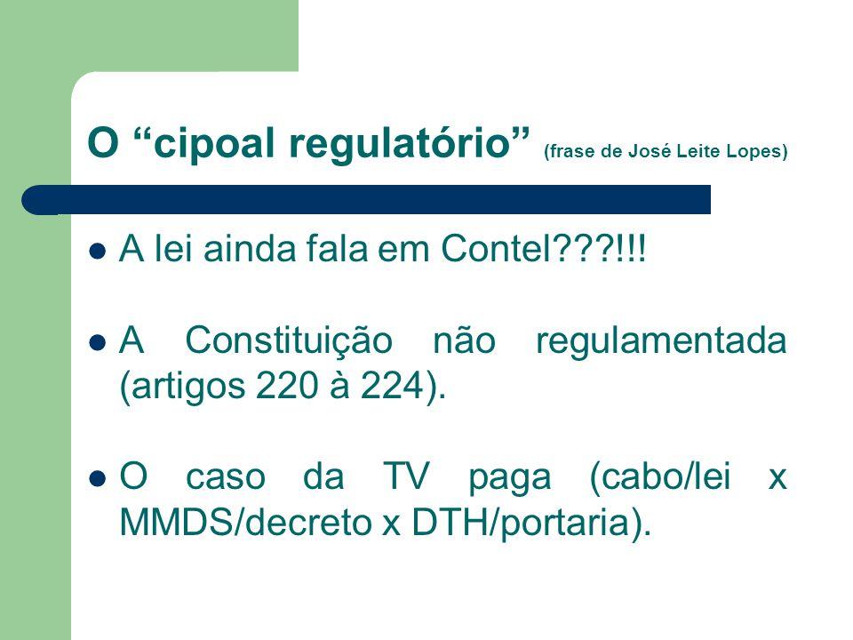 O marco regulatório brasileiro (4) Código Brasileiro de Telecomunicações (Como ficou)Como ficou