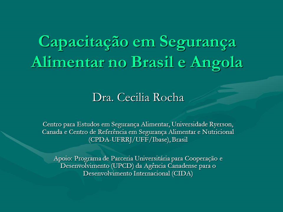 Capacitação em Segurança Alimentar no Brasil e Angola Dra.