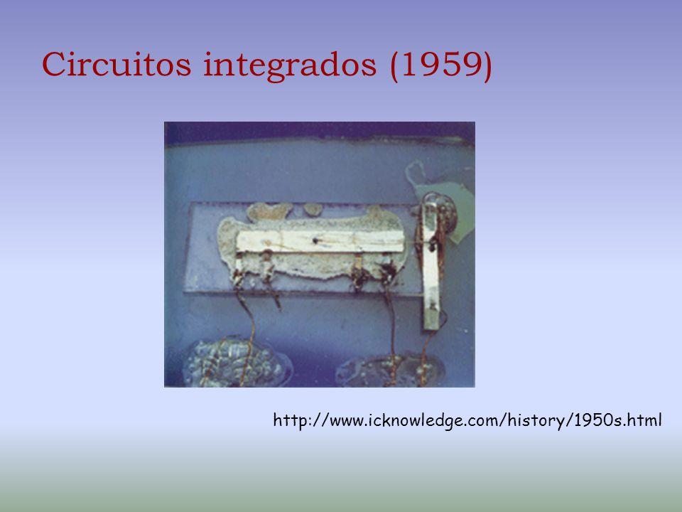 Circuitos integrados (1959) http://www.icknowledge.com/history/1950s.html