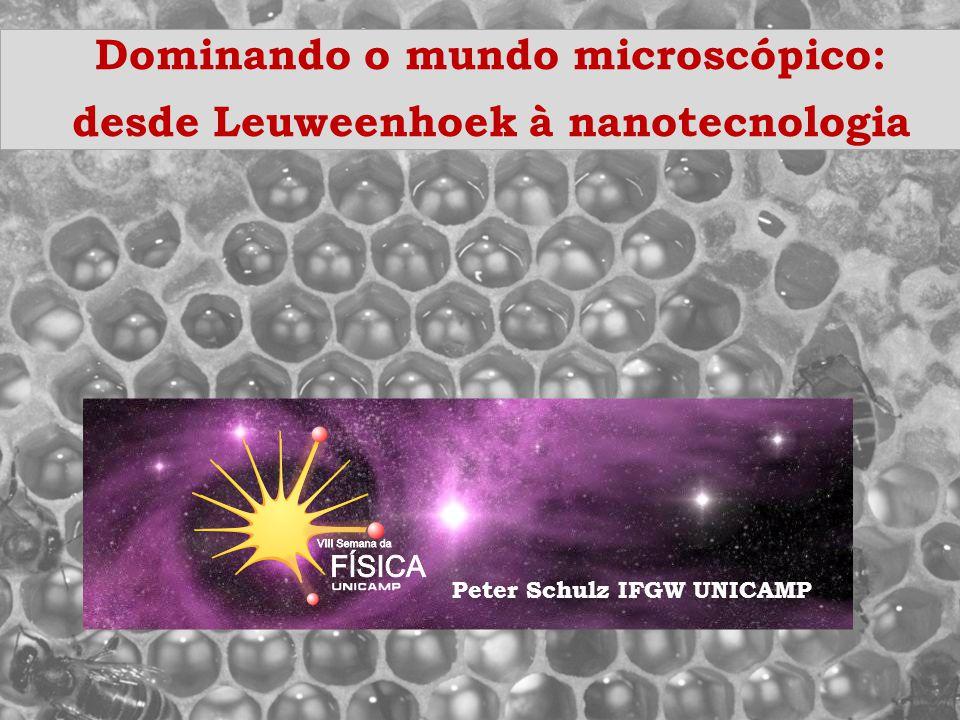 Uma rápida definição Nanociência: investigação e manipulação controlada da matéria em escala nanométrica http://www.begbroke.ox.ac.uk/nanotech/interface.html http://www.nanoscience.cam.ac.uk/schools/links.html