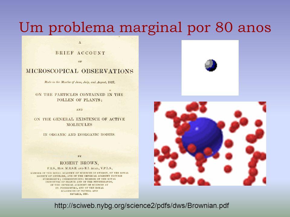 Um problema marginal por 80 anos http://sciweb.nybg.org/science2/pdfs/dws/Brownian.pdf