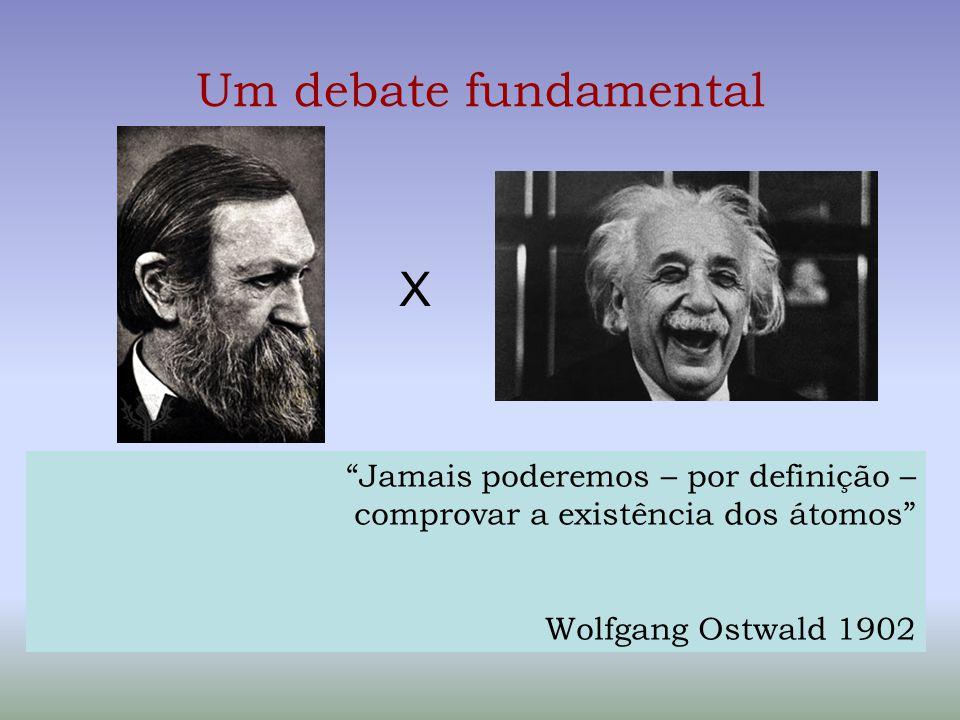 """Um debate fundamental Wolfgang Ostwald em 1902 X """"Jamais poderemos – por definição – comprovar a existência dos átomos"""" Wolfgang Ostwald 1902"""
