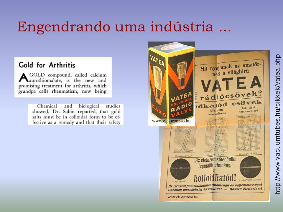 Engendrando uma indústria... http://www.vacuumtubes.hu/cikkek/vatea.php