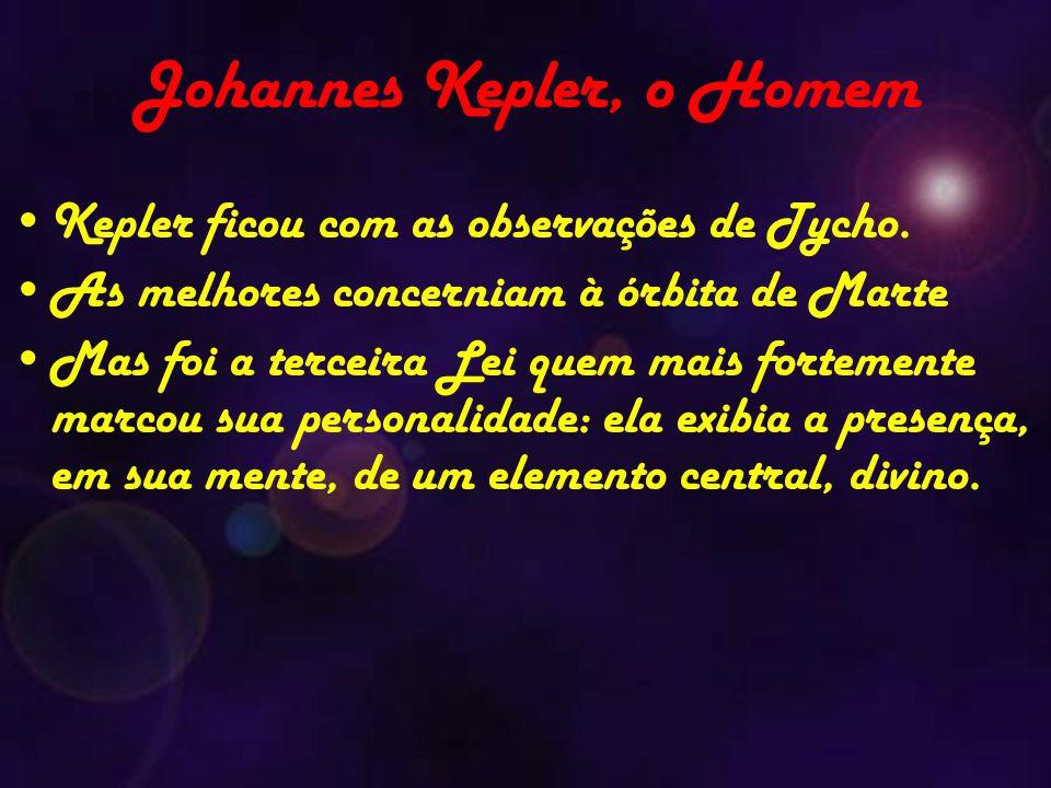Johannes Kepler, o Homem Kepler ficou com as observações de Tycho.