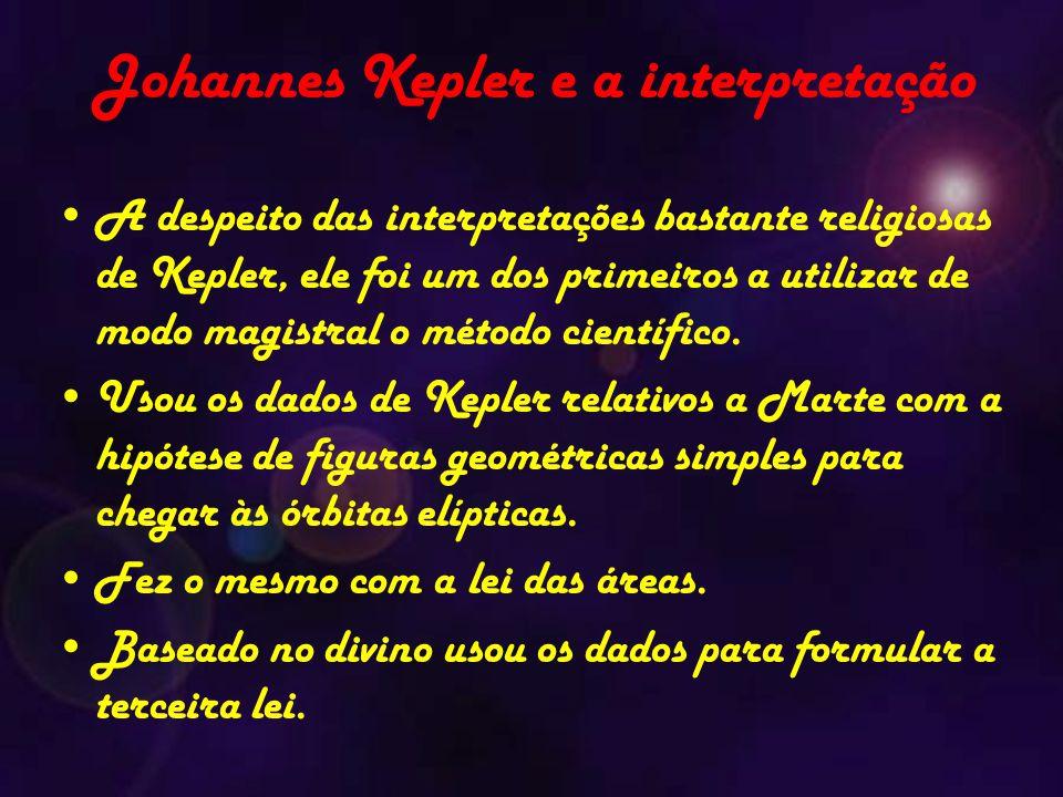 Johannes Kepler e a interpretação A despeito das interpretações bastante religiosas de Kepler, ele foi um dos primeiros a utilizar de modo magistral o método científico.