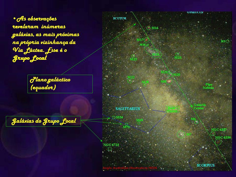 As observações revelaram inúmeras galáxias, as mais próximas na própria vizinhança da Via Láctea. Esse é o Grupo Local Anglo-Australian Observatory/SE
