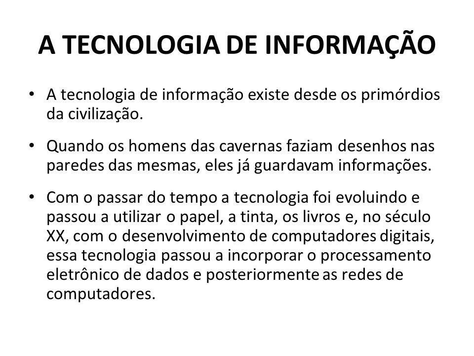 A tecnologia de informação existe desde os primórdios da civilização.