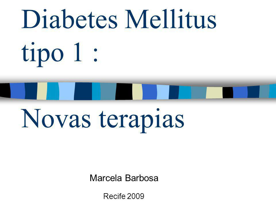 Tx de células tronco para DM1 Voltarelli e cols(2003): -Transplante autólogo de céls tronco hematopoéticas nos paciente recém diagnosticados com DM1(menos de 6 sem.).