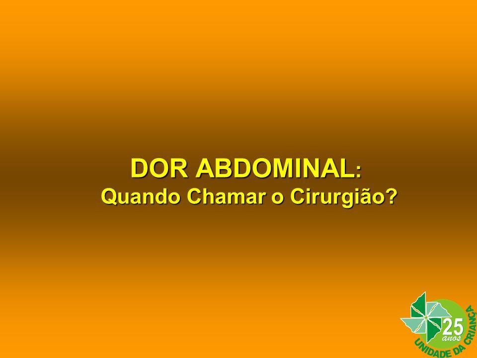 DOR ABDOMINAL Exames Complementares Ultra Som RX de Tórax RX do AbdomeRX de Tórax