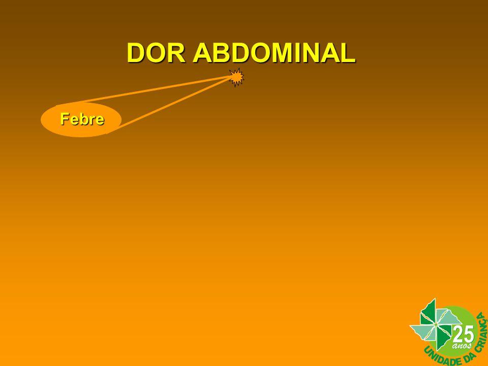 DOR ABDOMINAL Febre Febre