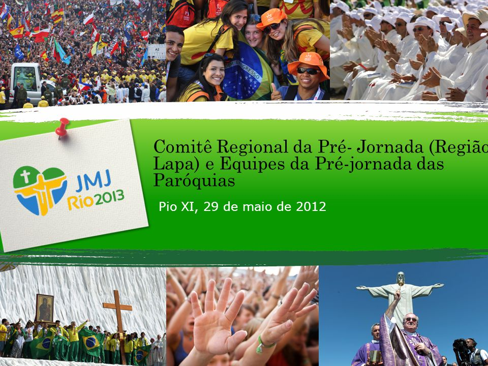 S EMANA M ISSIONÁRIA Hospedagem (100 jovens por paróquia) Dúvidas http://www.prejmjsp.com/familia- acolhedora/duvidas.html#http://www.prejmjsp.com/familia- acolhedora/duvidas.html# Cadastro http://www.prejmjsp.com.br/familia- acolhedora/cadastro/src/web/TelaForm.php http://www.prejmjsp.com.br/familia- acolhedora/cadastro/src/web/TelaForm.php Voluntários Dúvidas http://www.prejmjsp.com/voluntarios/duvidas.html http://www.prejmjsp.com/voluntarios/duvidas.html