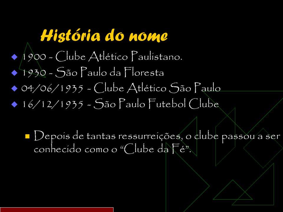 História do nome  1900 - Clube Atlético Paulistano.
