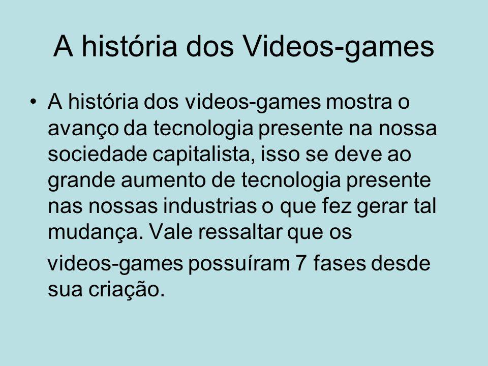 A história dos Videos-games A história dos videos-games mostra o avanço da tecnologia presente na nossa sociedade capitalista, isso se deve ao grande