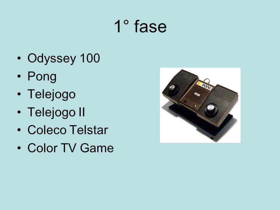 1° fase Odyssey 100 Pong Telejogo Telejogo II Coleco Telstar Color TV Game