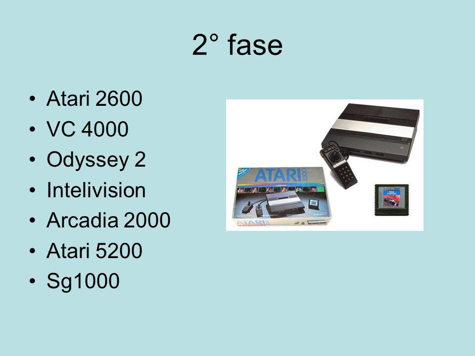 2° fase Atari 2600 VC 4000 Odyssey 2 Intelivision Arcadia 2000 Atari 5200 Sg1000