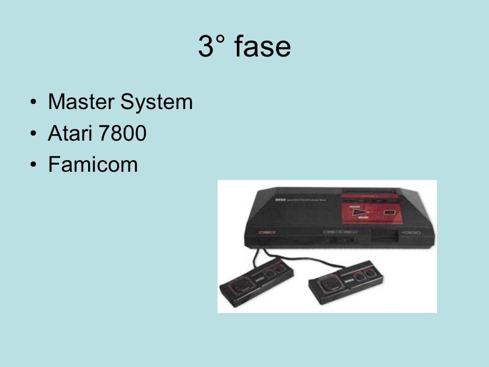 3° fase Master System Atari 7800 Famicom