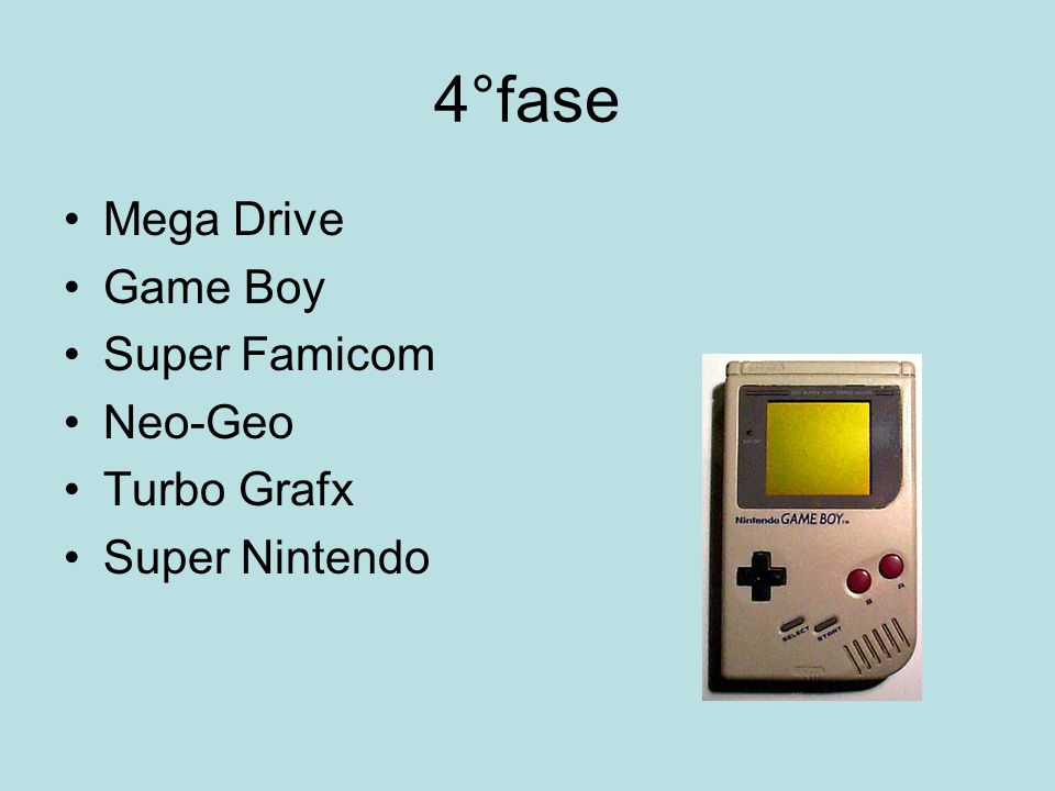 4°fase Mega Drive Game Boy Super Famicom Neo-Geo Turbo Grafx Super Nintendo