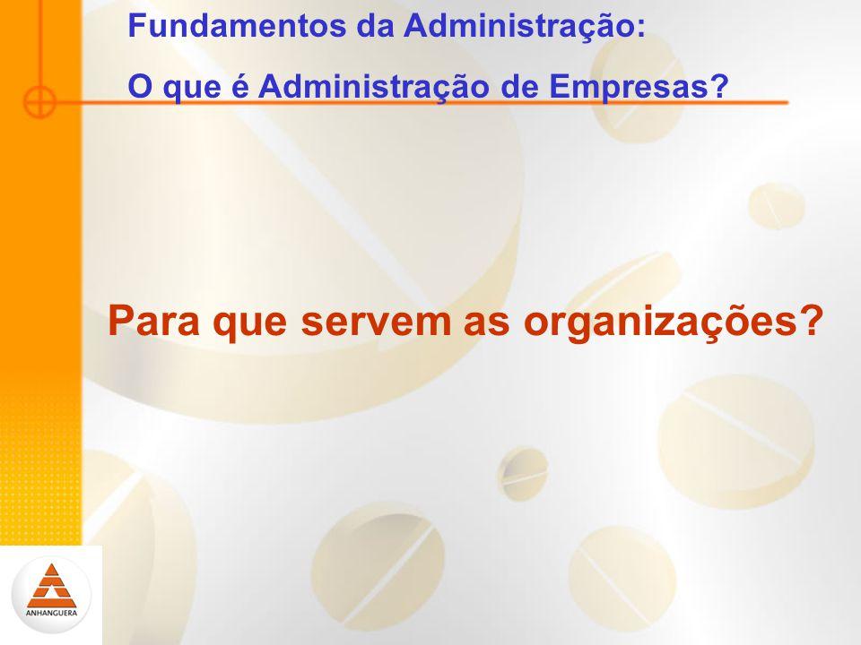Fundamentos da Administração: O que é Administração de Empresas? Para que servem as organizações?