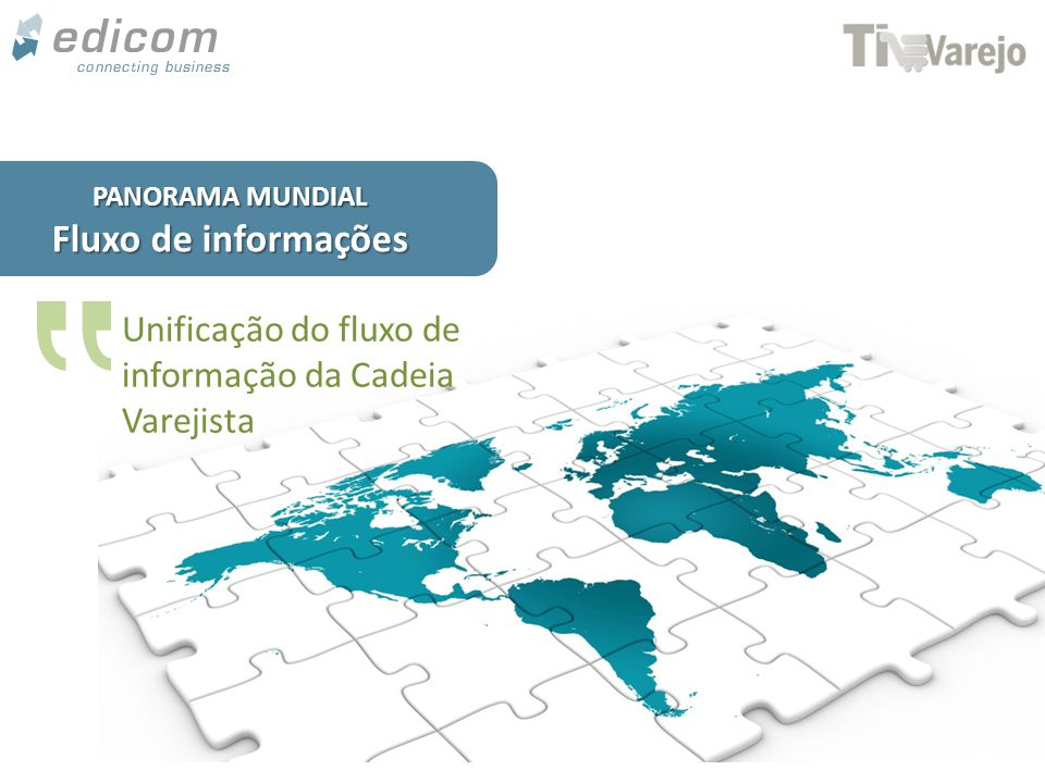 www.edicomgroup.com PANORAMA MUNDIAL Fluxo de informações Unificação do fluxo de informação da Cadeia Varejista