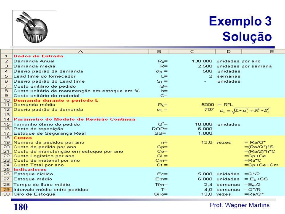 Prof. Wagner Martins Exemplo 3 Solução 180