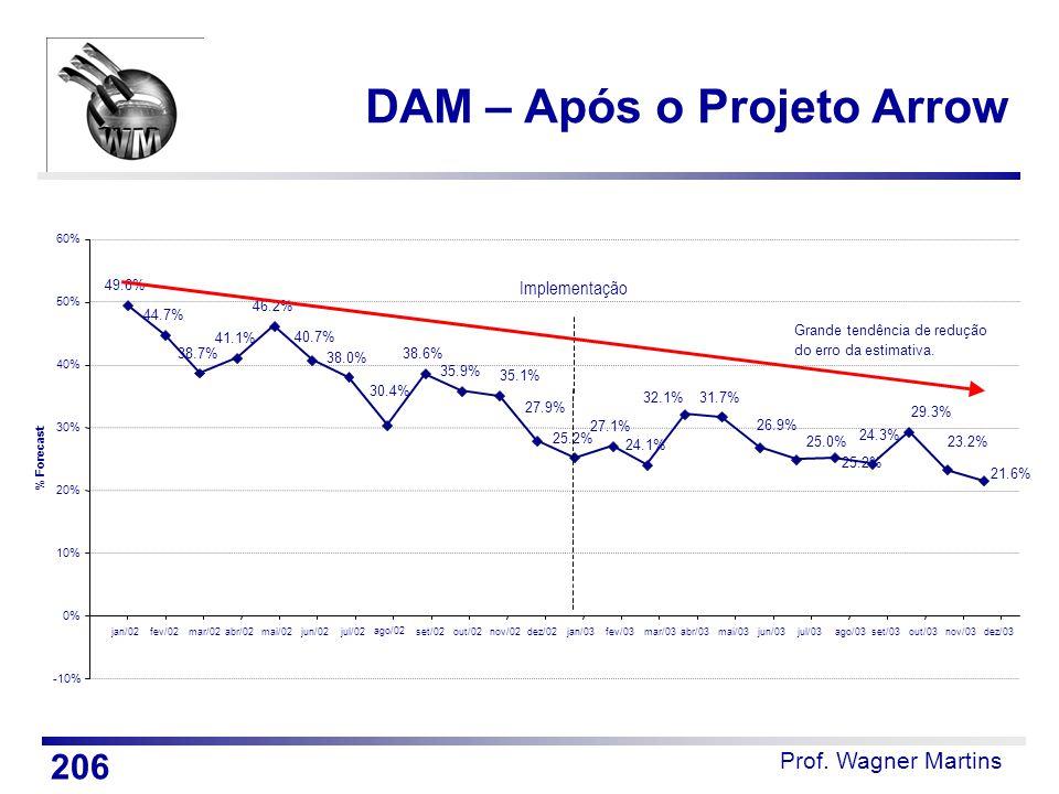 Prof. Wagner Martins DAM – Após o Projeto Arrow 206