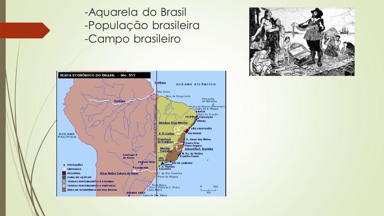 -Aquarela do Brasil -População brasileira -Campo brasileiro
