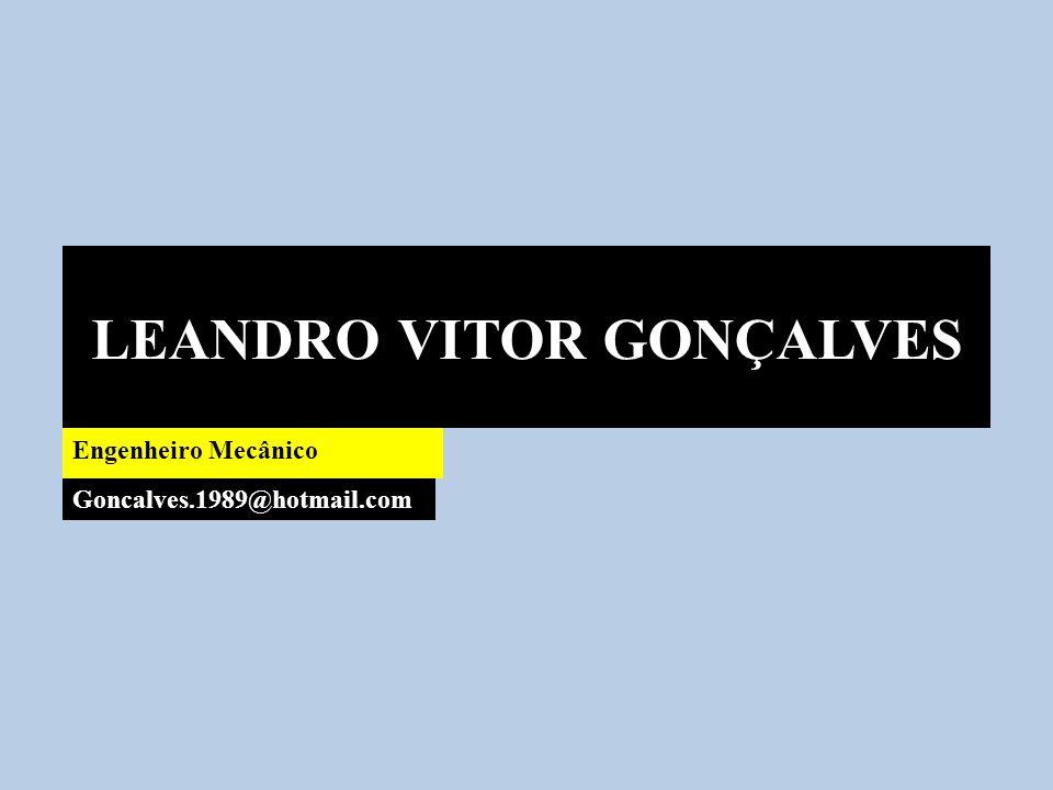 LEANDRO VITOR GONÇALVES Engenheiro Mecânico Goncalves.1989@hotmail.com