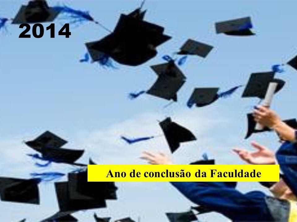 2014 Ano de conclusão da Faculdade