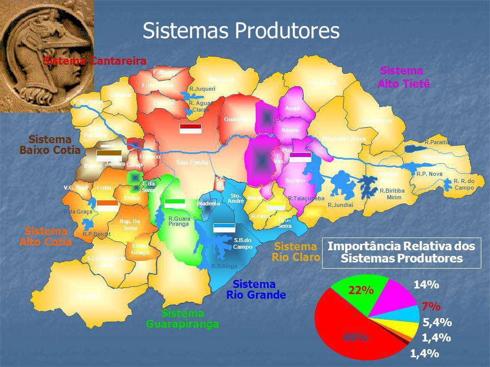 Sistemas Produtores CAIEIRAS MAIRIPORÃ GUARULHOS ARUJÁ SUZANO SÃO PAULO V.G. PAUL. ITAPEVÍ COTIA EMBU JANDIRA S.B.DO CAMPO S.LOURENÇO. DA SERRA ITAP.