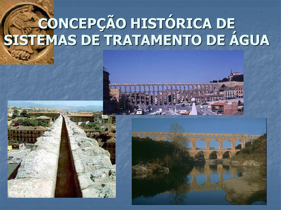 CONCEPÇÃO HISTÓRICA DE SISTEMAS DE TRATAMENTO DE ÁGUA