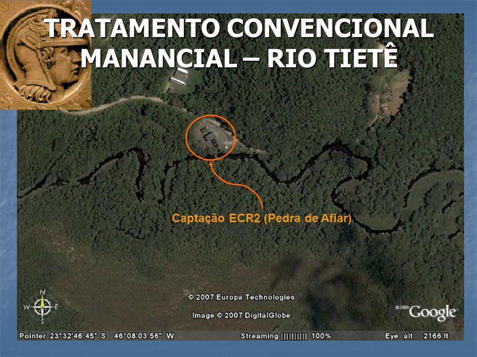 Captação ECR2 (Pedra de Afiar) TRATAMENTO CONVENCIONAL MANANCIAL – RIO TIETÊ
