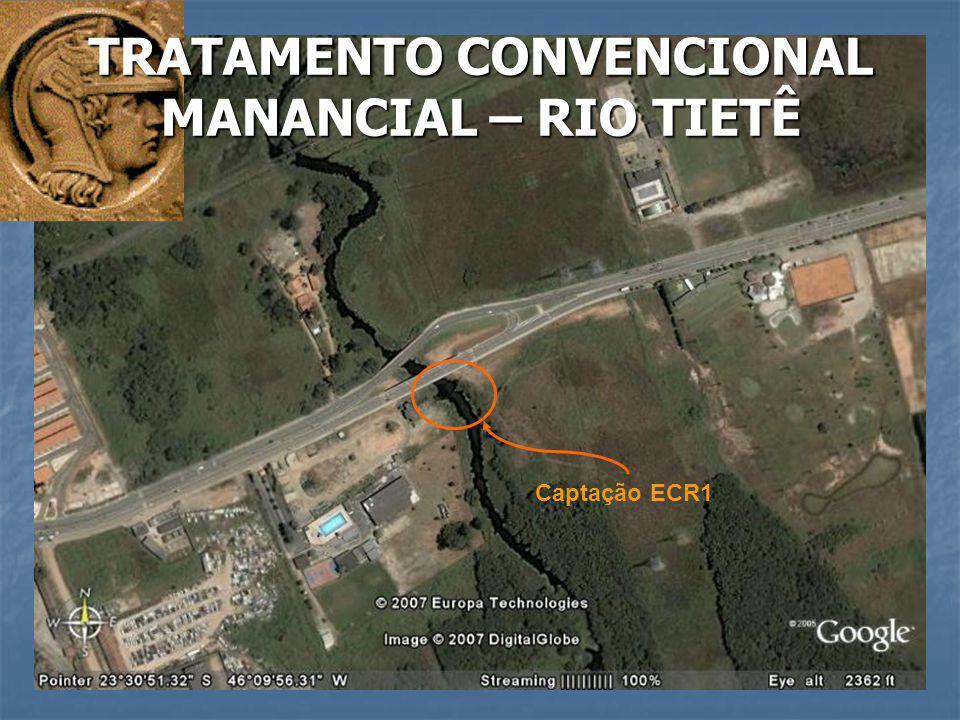 Captação ECR1 TRATAMENTO CONVENCIONAL MANANCIAL – RIO TIETÊ