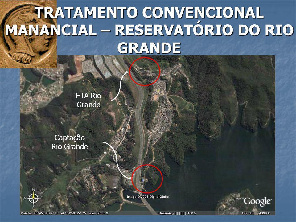 ETA Rio Grande Captação Rio Grande TRATAMENTO CONVENCIONAL MANANCIAL – RESERVATÓRIO DO RIO GRANDE